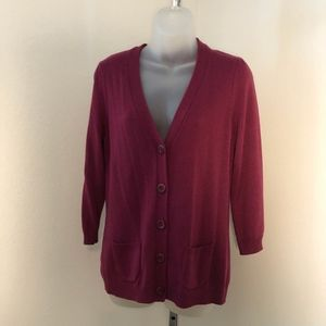 Ann Taylor 3/4 Sleeve Soft Knit Cardigan